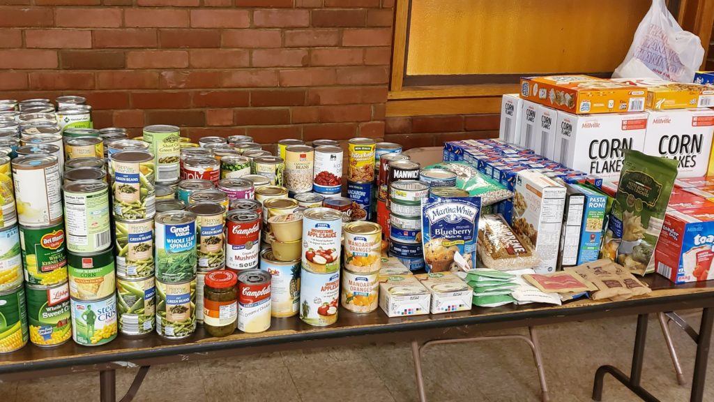 Nutritious foods ready for families at the Giveaway Event
