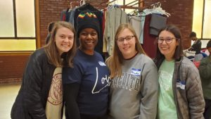 Volunteers from Meredith with Keena Johnson, BWEL Chief Empathy Officer